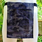 Shinobi Fundoshi Silk Linen blue camouflage01