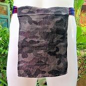 Shinobi Fundoshi Silk Linen black camouflage01