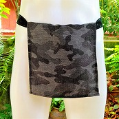 Shinobi Fundoshi Silk Linen black camouflage02