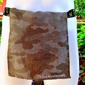 Shinobi Fundoshi Silk Linen green camouflage Logo01