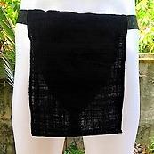 ふんどし手織綿黒06