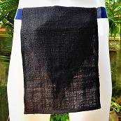 ふんどし手織綿黒01